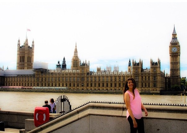 In London by the Houses of Parliament